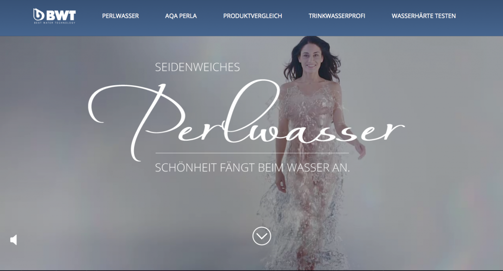 BWT Perlwasser Website
